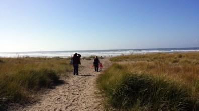 Hiking to the beach