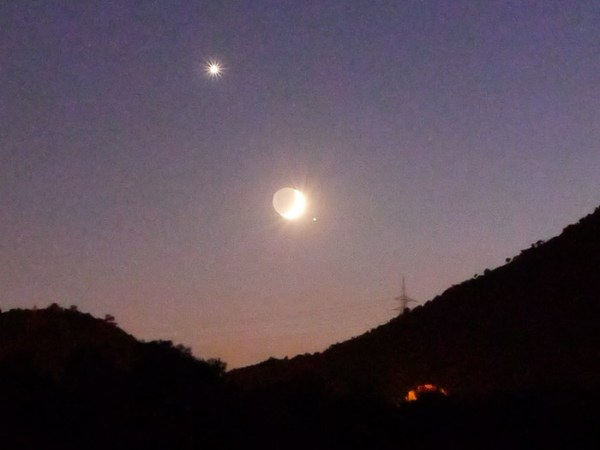 Moon Venus and Spica Conjunction 8th September 2013 In