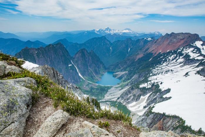 This is Copper Lake, to the noth-east of Vesper Peak - view from