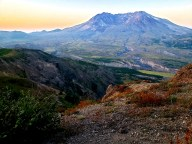 Mount St Helens at sunrise