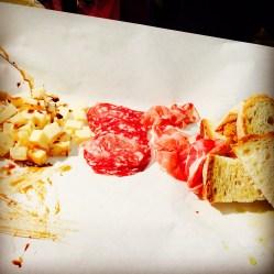 Käse, Salami, Prosciutto und Weißbrot