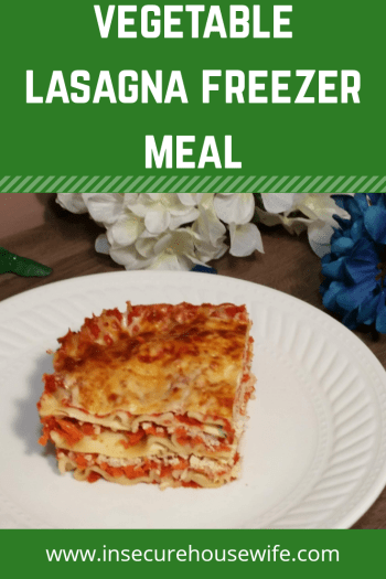 This vegetable lasagna makes a fantastic freezer meal for those long and cold winter months.