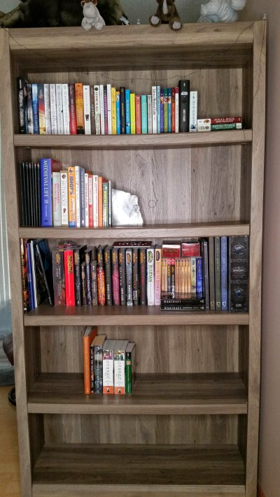 TBR update - A shelf once the unread books have been removed.