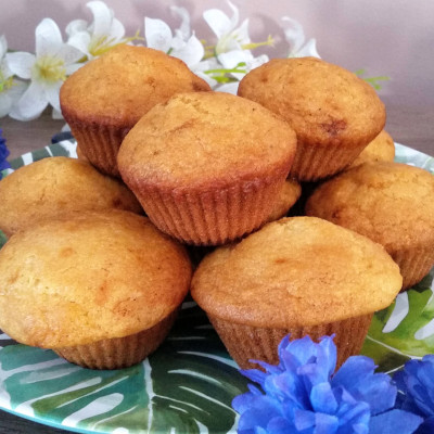 Homemade corn muffins.