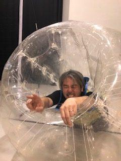 バブルサッカーをたしなむ ばぶるあわあわ(〃∇〃)