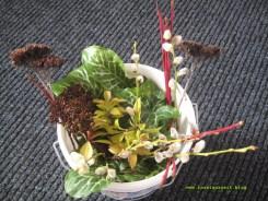 Material für den Frühlingskranz