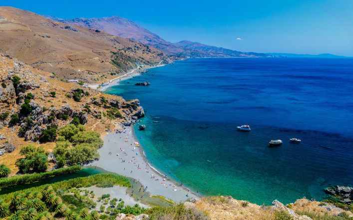 Strand Preveli Kreta Urlaub