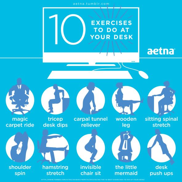 10 Exercises to Do at Your Desk to Burn Calories