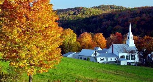 Stowe in Vermont - typisch Neuengland. Foto: Stowe Area Association