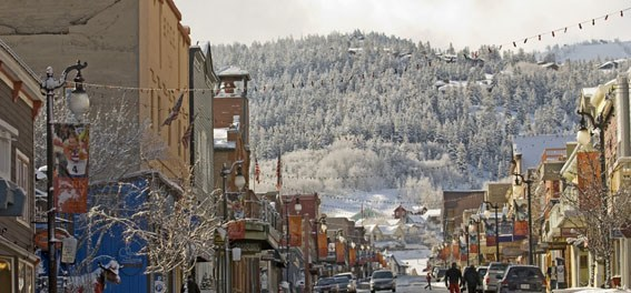 Die Main Street in Park City. - Foto: Park City