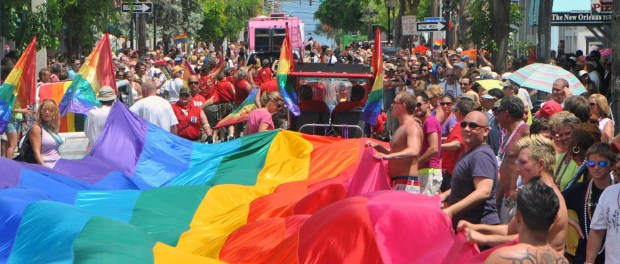 Flag In Key West Pride Parade. - Foto: Florida Keys News Bureau