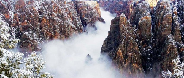 Schneetreiben im Black Canyon of the Gunnison National Park. - Foto: Colorado Tourism Office