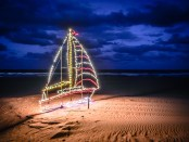 Weihnachtsbeleuchtung in Virginia Beach. - Foto: Capital Region USA