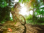 Mountainbiker im Carrabessett Valley. - Foto: Sugarloaf
