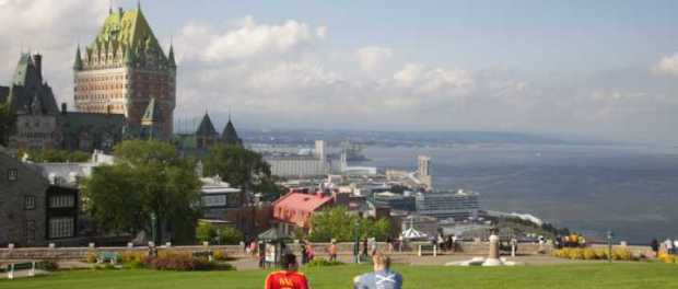 Die Dufferin Terrace in Quebec City. - Foto: Finn O'Hara