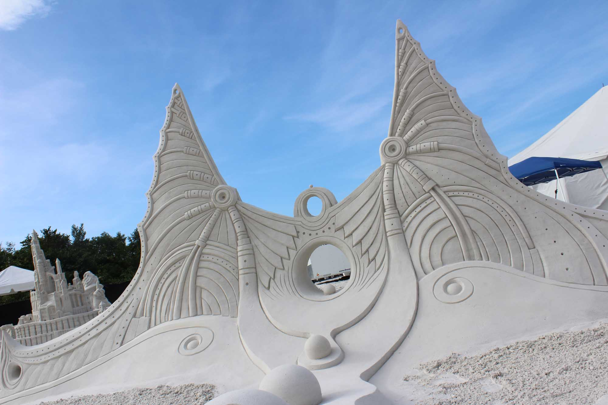 Sandburgen der etwas anderen Art in Fort Myers. – Foto: The Beaches of Fort Myers & Sanibel