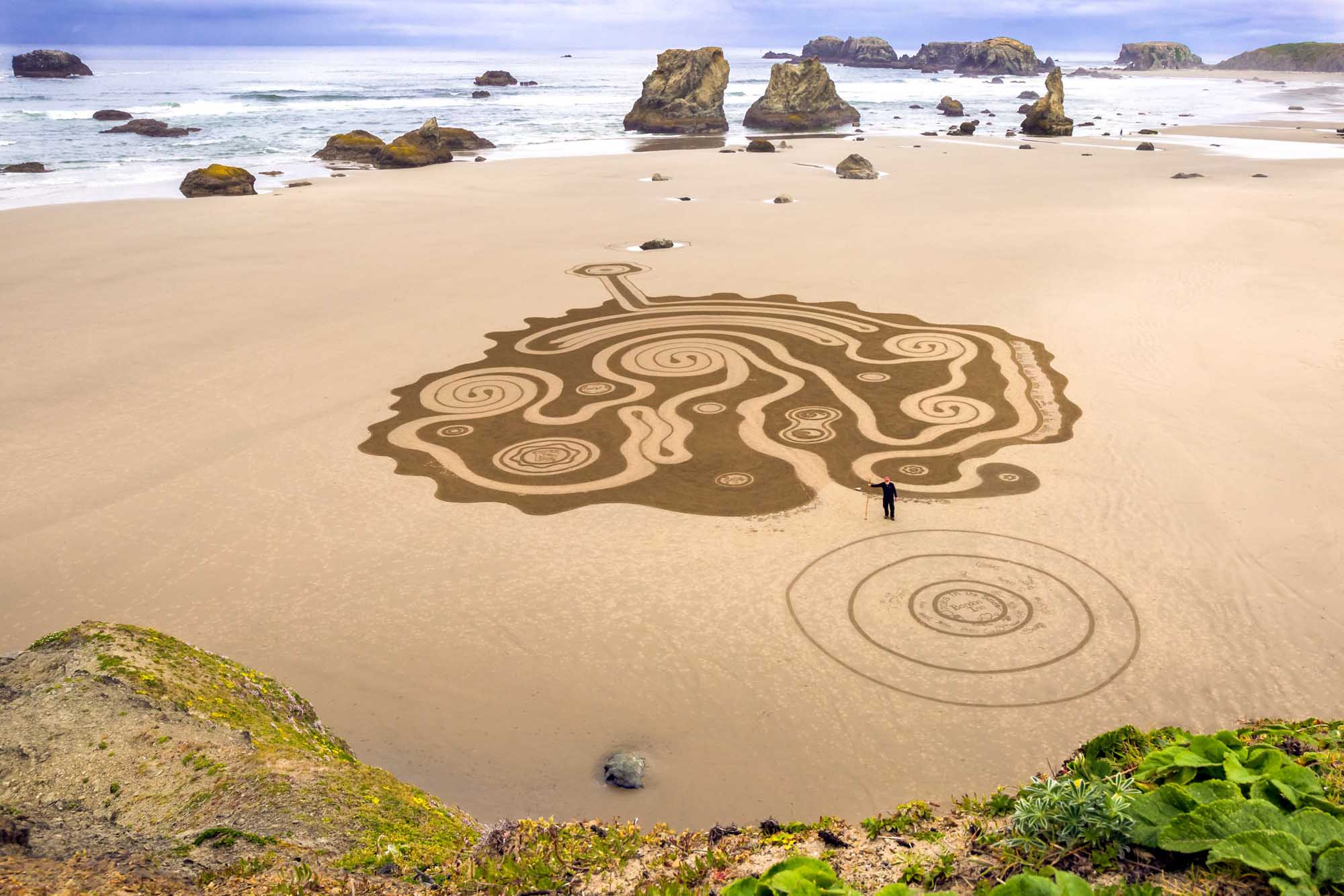 Circles in the Sand von Denny Dyke. – Foto: Susan Dimock Photography