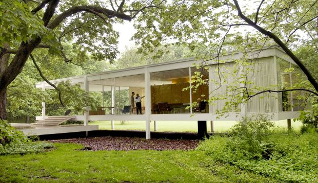 Mies van der Rohe's Farnsworth House. - Foto: Choose Chicago