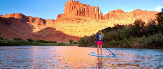 Stand Up Paddleing in Moab. - Foto: Monique Beeley