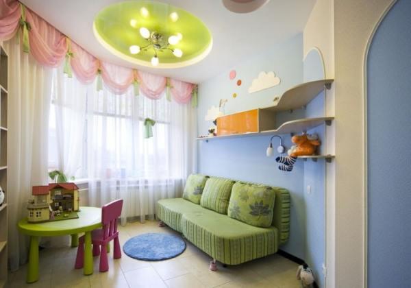 Двухуровневые натяжные потолки фото для детской – Натяжные ...