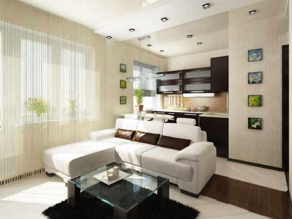 Дизайн студии с панорамными окнами: Удачное зонирование ...