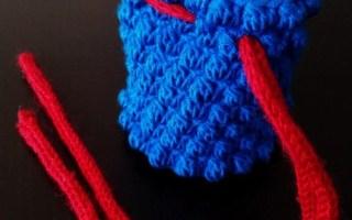 Crochet pattern bobble dice bag