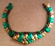 Scalemail #1 : Deux colliers verts et bronzes