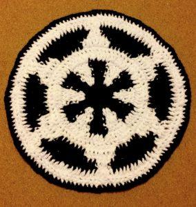 crochet embleme imperial de l'empire galactique sous-verre sous-assiete