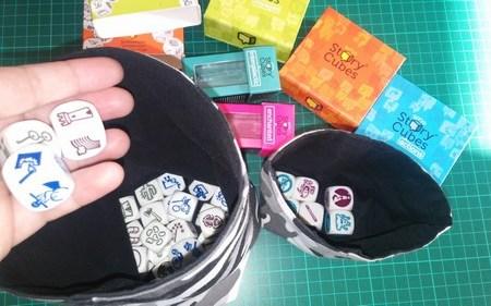 couture sac de rangement pour des rory story cube