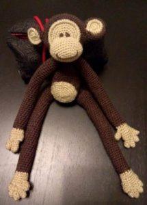 Crochet amigurumi monkey Aldi kit