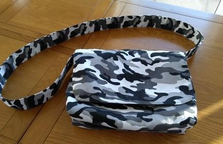 Sewing messenger bag