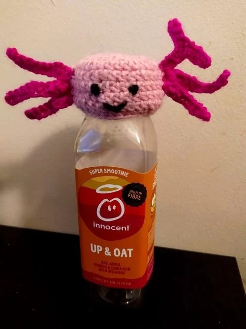 The innocent big knit crochet pattern for axolotl hat