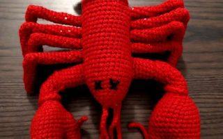 crochet amigurumi lobster