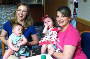 Bekah and I have a chance meeting  with Tailyn and her mom at Children's