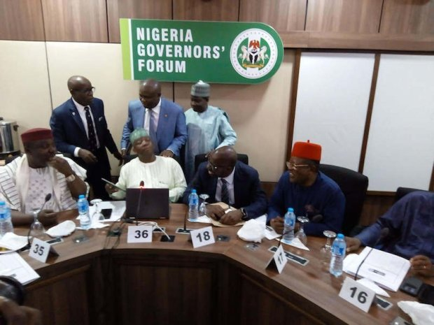 Image result for 36 state governors settle for N22,500 as new minimum wage