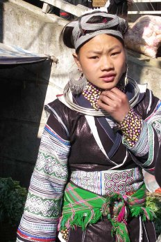 A young girl in Sapa