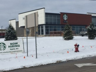 New Starbucks location at University Dr.