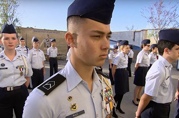 junior rotc cadets san diego, california, usa