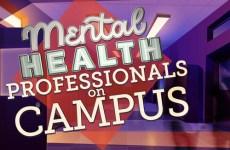 mental health professionals on campus