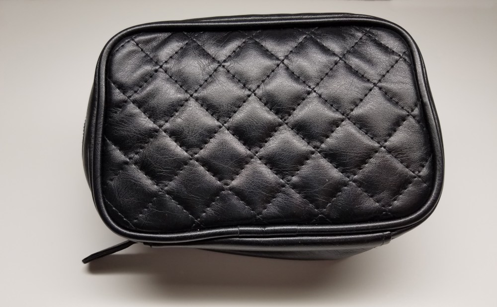 black chanel look cosmetic bag