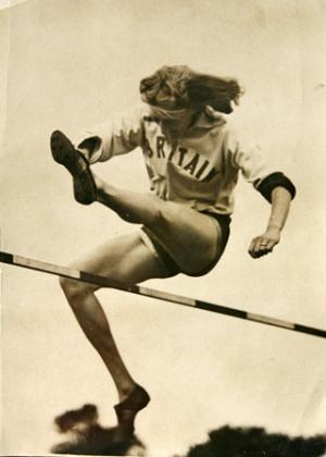 Action woman: Tyler in action in the 1940s, long before the Fosbury Flop