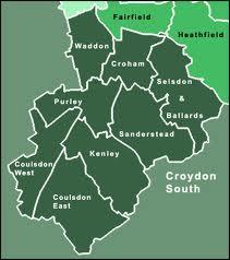 Croydon South map by ward