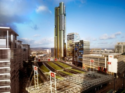 At the heart of the East Croydon Masterplan is an incomplete footbridge, a tower that may not be built, and a building site that's not been built on for a decade