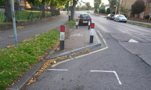 """The cycling """"infrastructure"""" in Croydon makes the borough a laughing stock among the country's cyclists"""