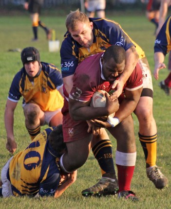 Damion Darlington, the Streatham and Croydon forward, is hard to stop when he drives with the ball