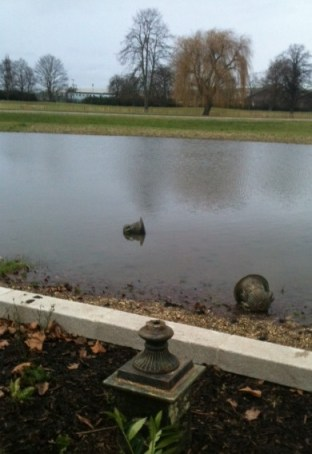 """Mindless vandalism to some of the new """"antique"""" fittings in Wandle Park"""