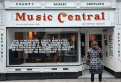 The writing's on the glass, if not on the wall, for independent retailers in South Croydon as well as Shropshire