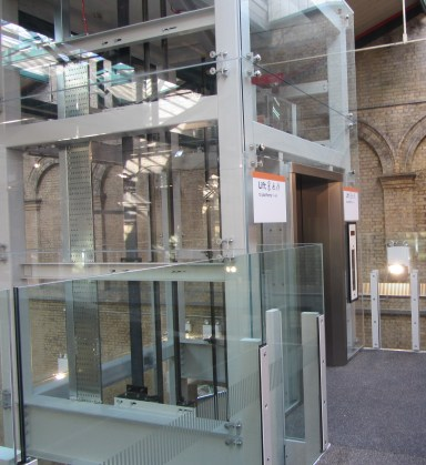 One of the new lifts that provide step-free access at Crystal Palace station