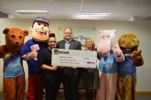 UK Mail's Croydon depot's charity presentation to the Rainbow Trust this week