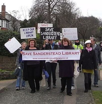 Under threat: library users in Sanderstead and across the borough have felt their service has been under threat for three years